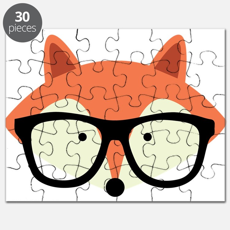Hipster Red Fox Puzzle