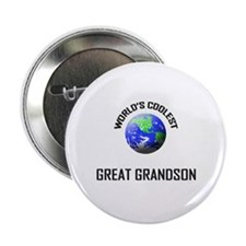 World's Coolest GREAT GRANDSON Button