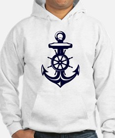 Antique Navy Blue Anchor Hoodie