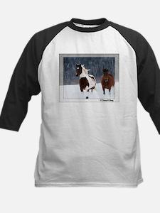 Horses in Snow Baseball Jersey