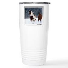 Horses in Snow Travel Mug