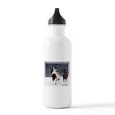 Horses in Snow Water Bottle