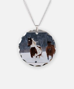 Horses in Snow Necklace