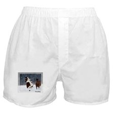 Horses in Snow Boxer Shorts