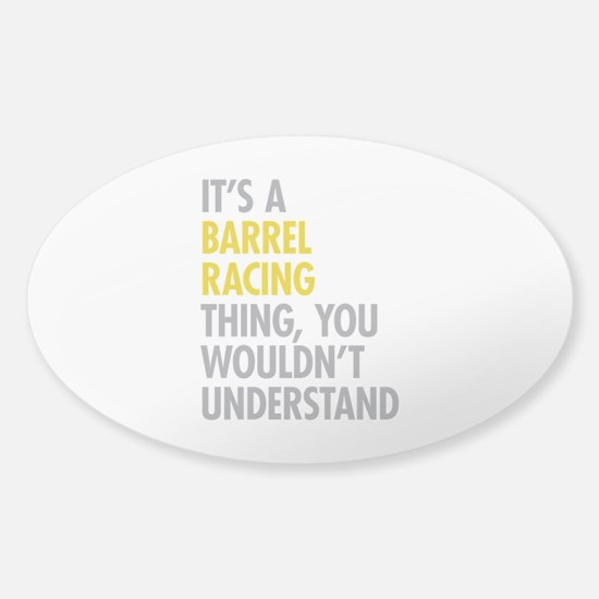 Barrel Racing Thing Sticker (Oval)