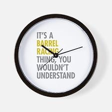 Barrel Racing Thing Wall Clock