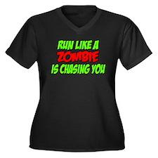 Zombie Run Women's Plus Size V-Neck Dark T-Shirt