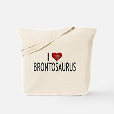 I Love Brontosaurus Tote Bag