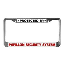 Papillon Security License Plate Frame