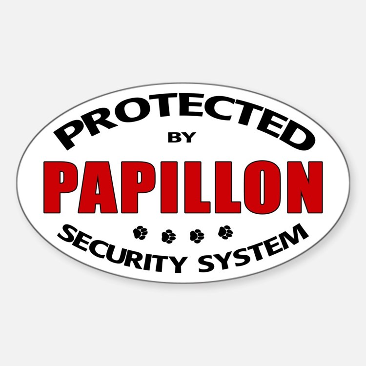 Papillon Security Oval Decal