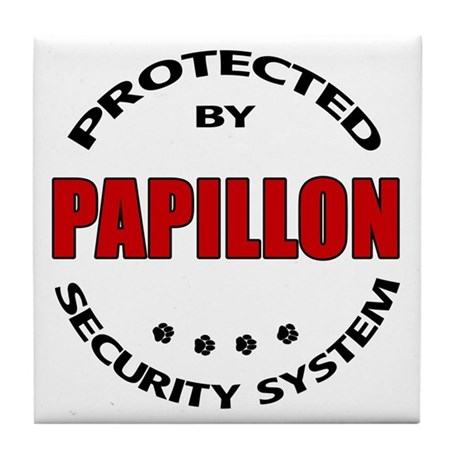 Papillon Security Tile Coaster