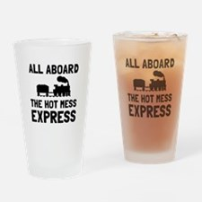 Hot Mess Express Drinking Glass