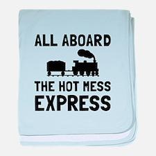 Hot Mess Express baby blanket