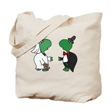 Fun Turtle Wedding Tote Bag