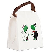 Fun Turtle Wedding Canvas Lunch Bag