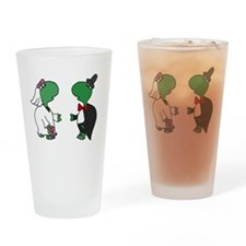 Fun Turtle Wedding Drinking Glass