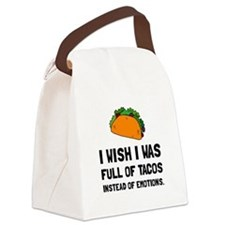 Tacos Emotions Canvas Lunch Bag