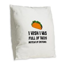Tacos Emotions Burlap Throw Pillow