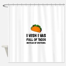 Tacos Emotions Shower Curtain