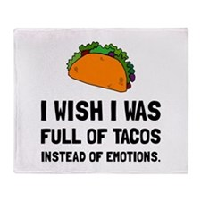 Tacos Emotions Throw Blanket