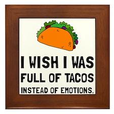 Tacos Emotions Framed Tile