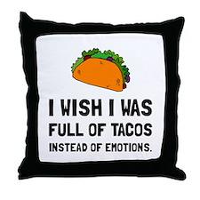 Tacos Emotions Throw Pillow