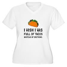 Tacos Emotions Plus Size T-Shirt