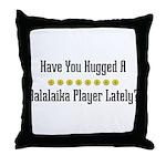 Hugged Balalaika Player Throw Pillow
