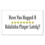 Hugged Balalaika Player Rectangle Sticker