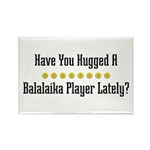 Hugged Balalaika Player Rectangle Magnet (100 pack