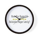 Hugged Balalaika Player Wall Clock