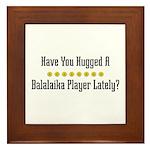 Hugged Balalaika Player Framed Tile