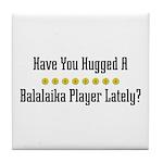 Hugged Balalaika Player Tile Coaster