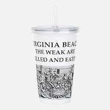 virginia,beach Acrylic Double-wall Tumbler