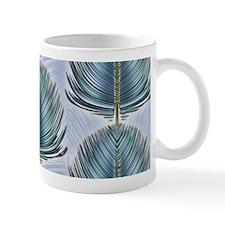 Stylized Peacock Feather - Blue Mug