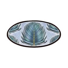 Stylized Peacock Feather - Blue Patches
