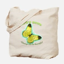 Life's Good Butterfly Tote Bag