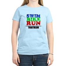 Multi-color triathlon T-Shirt