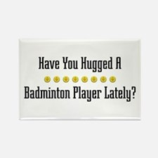 Hugged Badminton Player Rectangle Magnet
