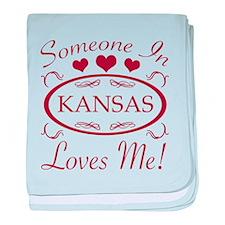 Somebody In Kansas Loves Me baby blanket