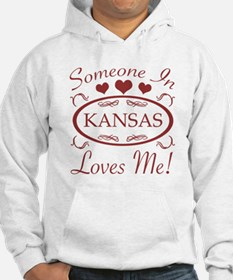Somebody In Kansas Loves Me Hoodie