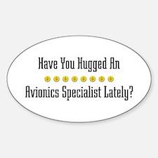 Hugged Avionics Specialist Oval Decal