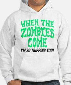 When The Zombies Come I'm So Tri Hoodie