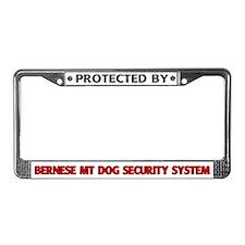 Bernese MT Dog Security License Plate Frame