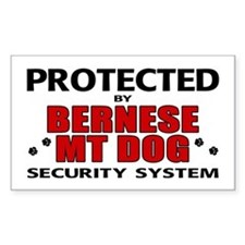 Bernese MT Dog Security Rectangle Decal