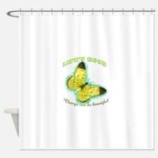 Life's Good Butterfly Shower Curtain