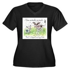 I love animals so much... Plus Size T-Shirt