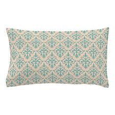 Aqua Sky & Linen Damask 41 Pillow Case