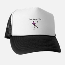Custom Girl Soccer Player Trucker Hat