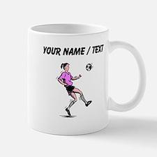 Custom Girl Soccer Player Mugs